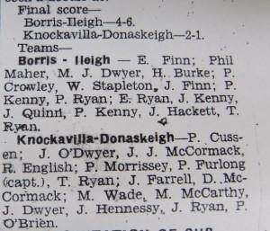 1949 county final teams