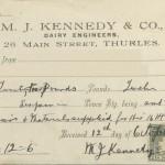 1929 GC J M Kennedy Thurles