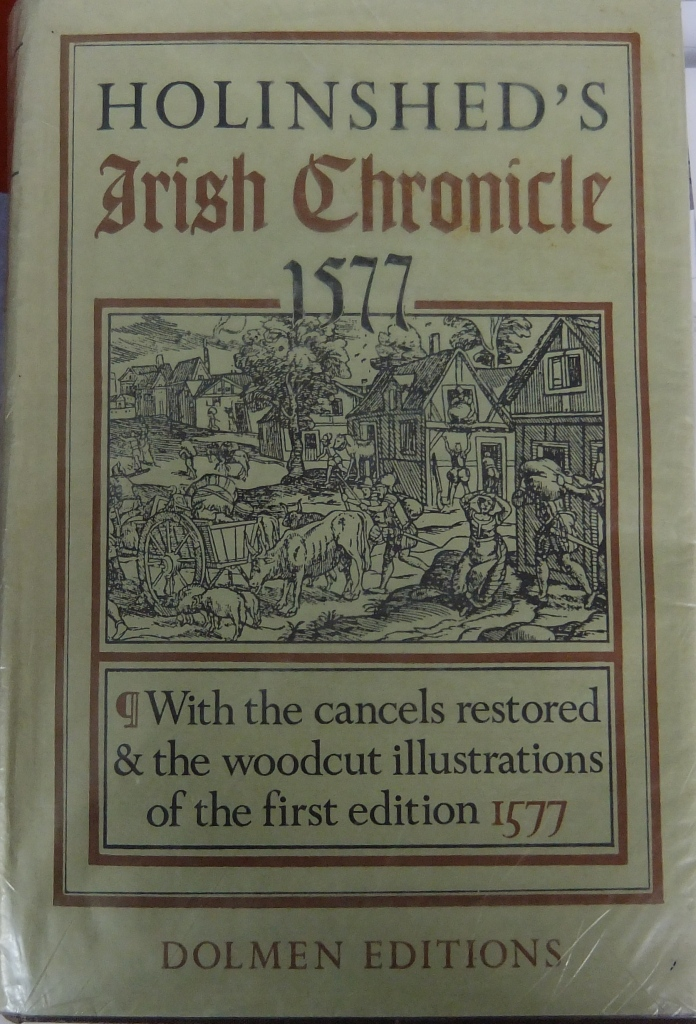 Book Of The Week; Holinshed's Irish Chronicle 1577