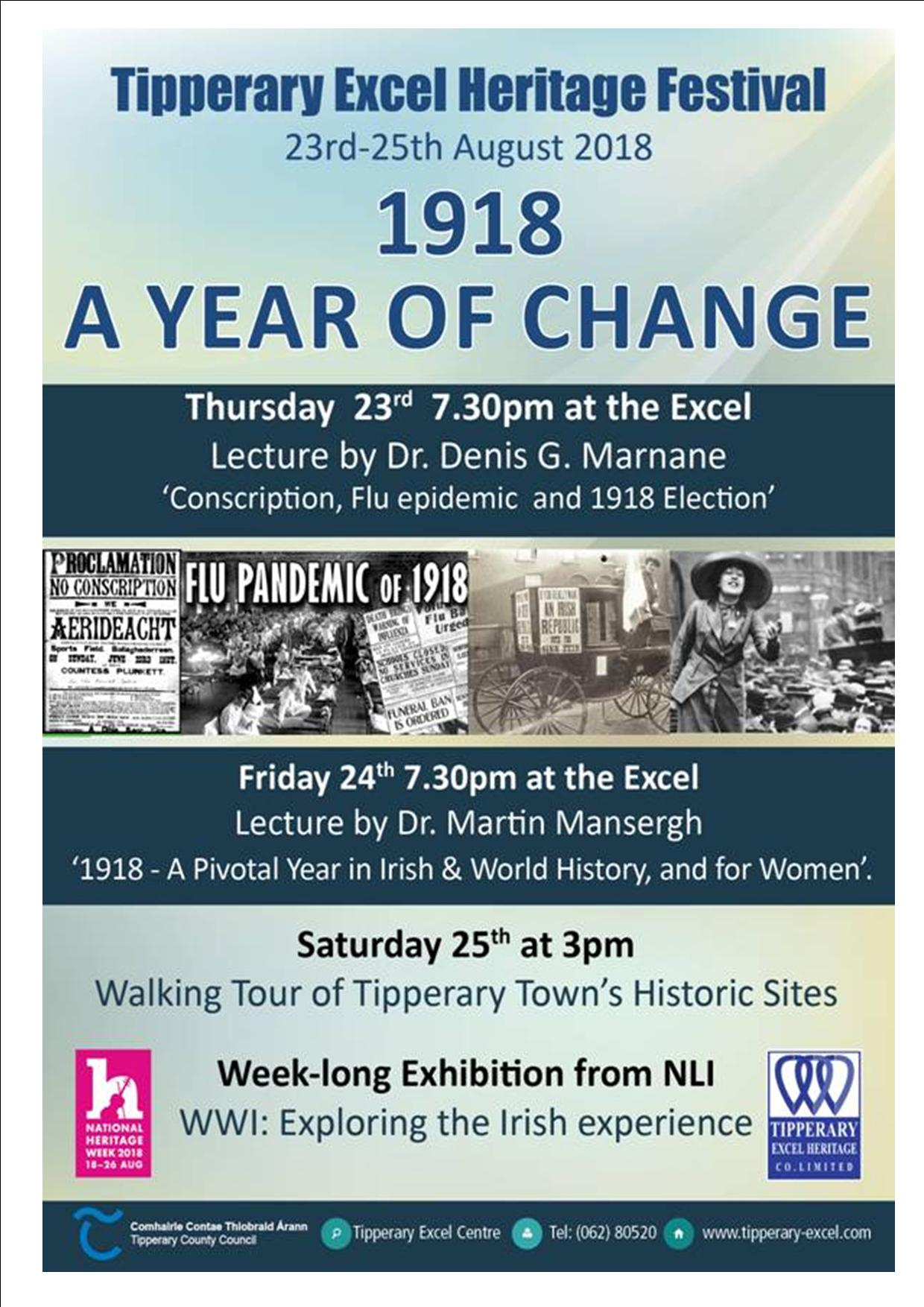 Tipperary Excel: 1918 A Year Of Change