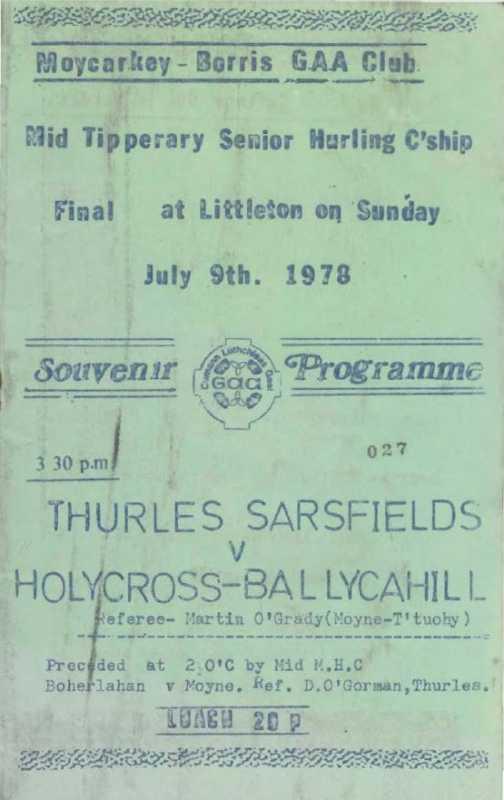 1978 Mid-Tipperary Senior Hurling Final