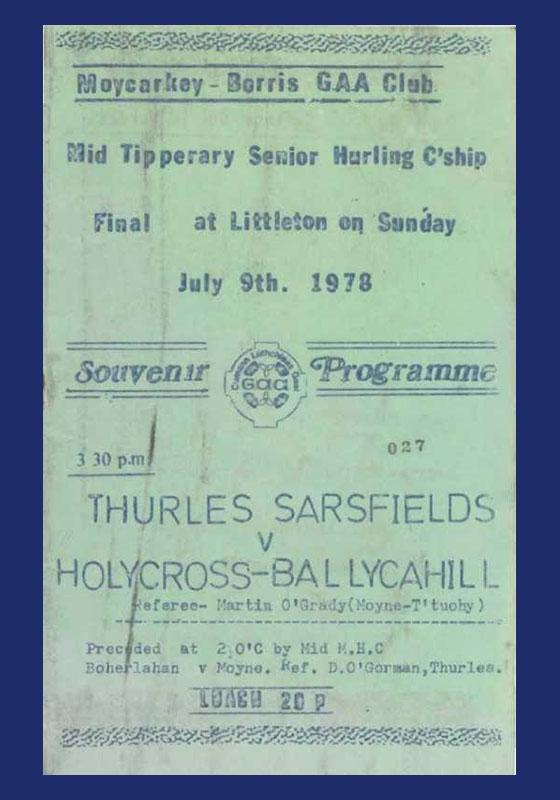 1978 Mid Tipperary Senior Hurling FinalR