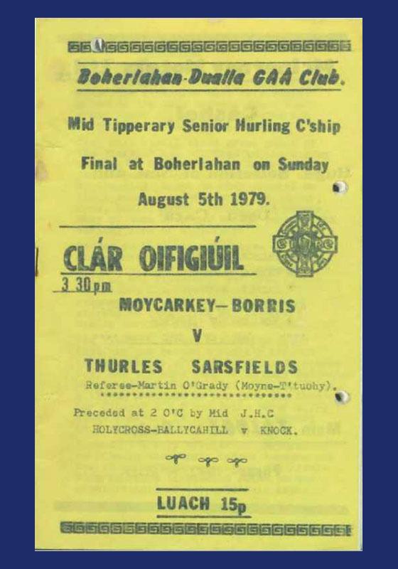 1979 Mid Tipperary Senior Hurling FinalR