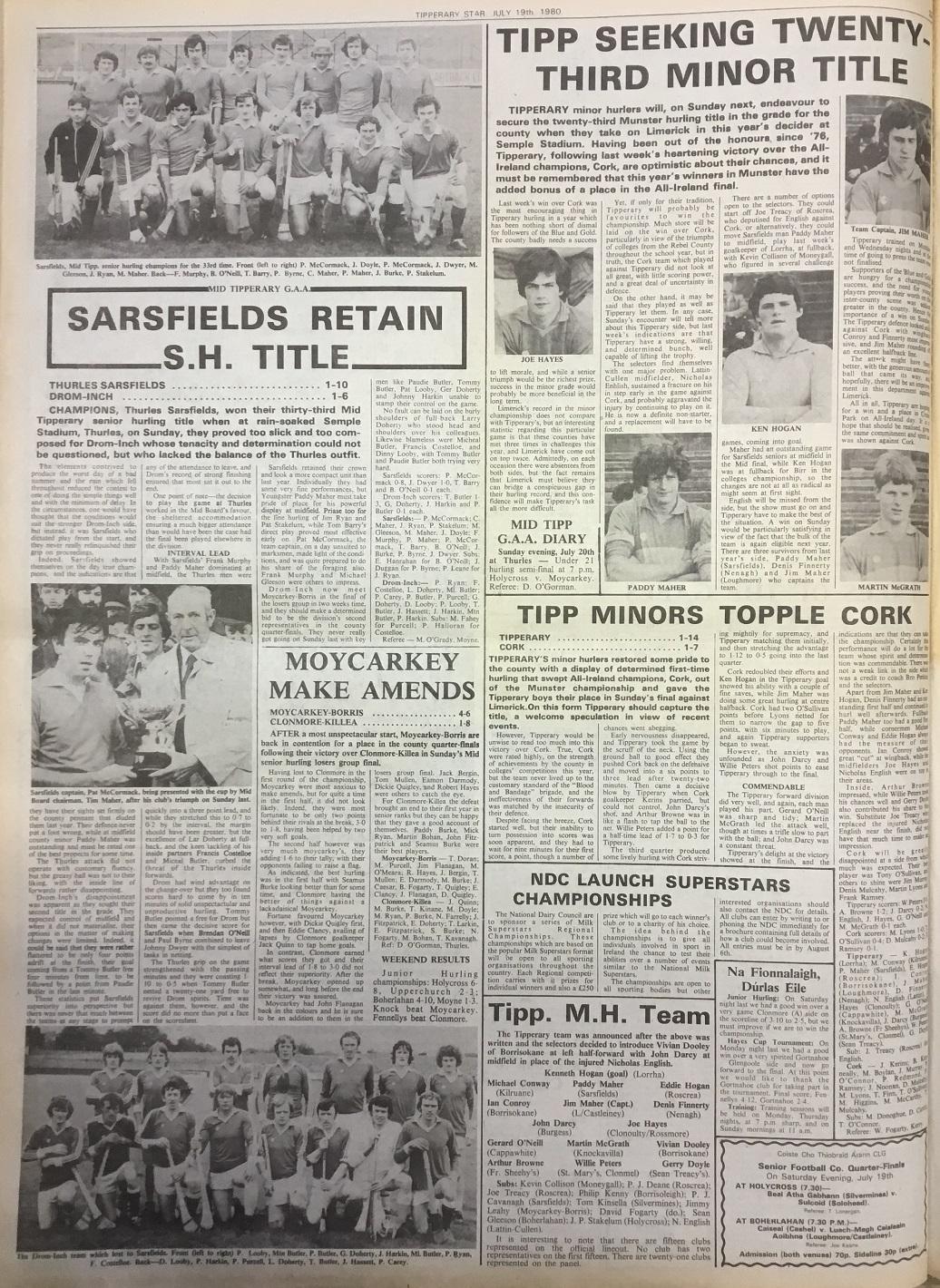 1980 Mid hurling final