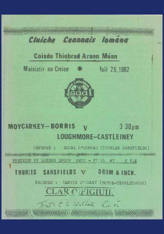 1982 Mid Tipperary Senior Hurling FinalR