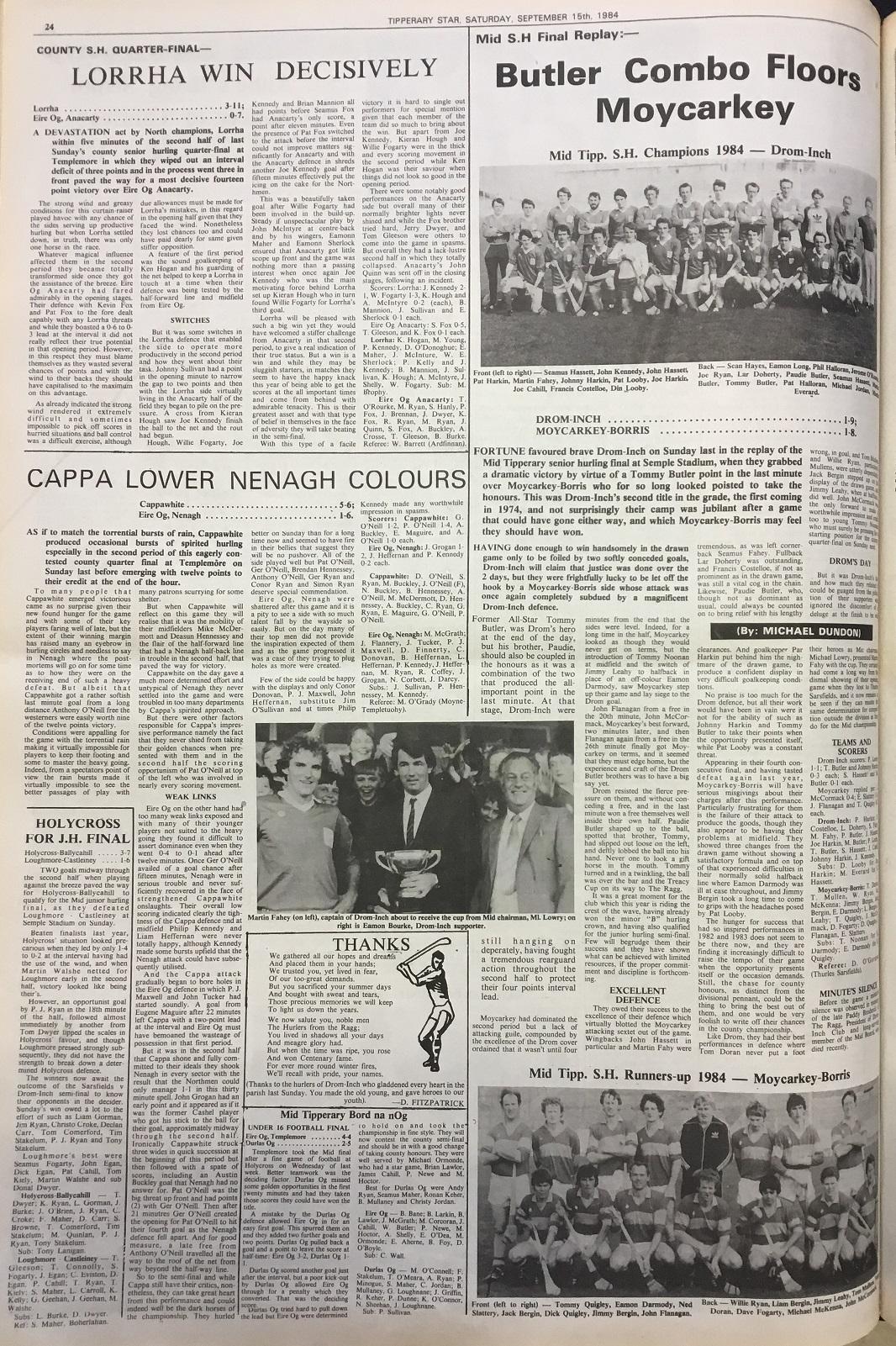 1984 Mid hurling final replay