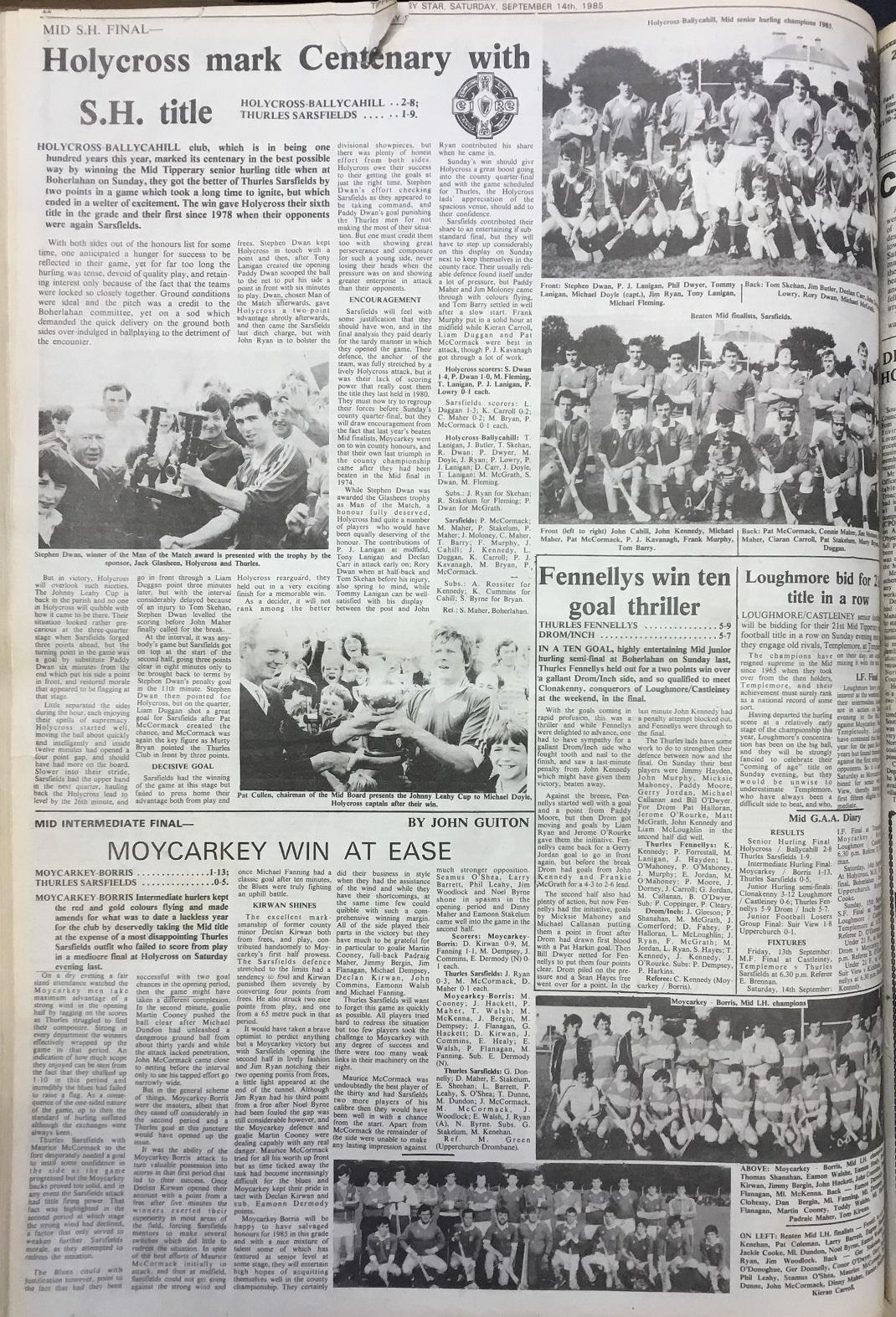 1985 Mid hurling final