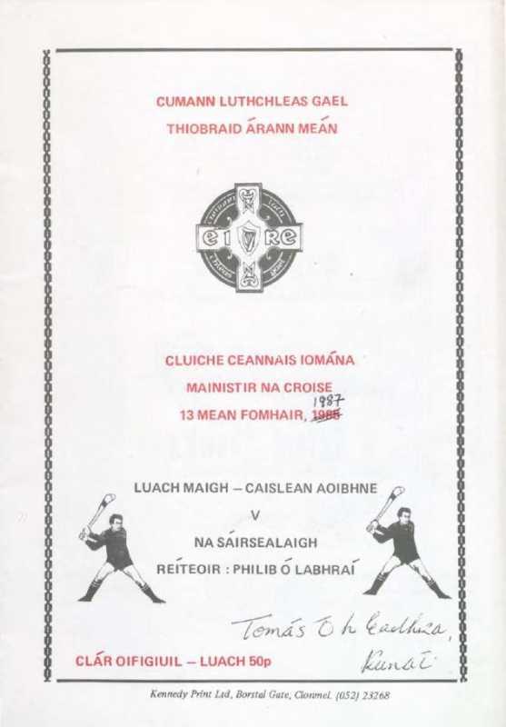 1987 Mid Tipperary Senior Hurling Final
