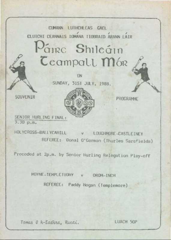 1988 Mid-Tipperary Senior Hurling Final