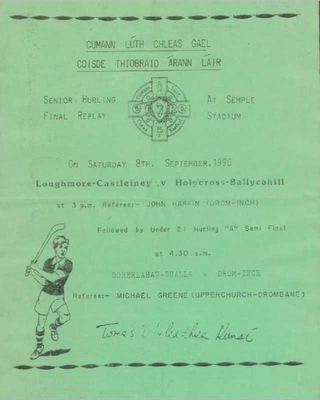 1990 Mid-Tipperary Senior Hurling Final replay