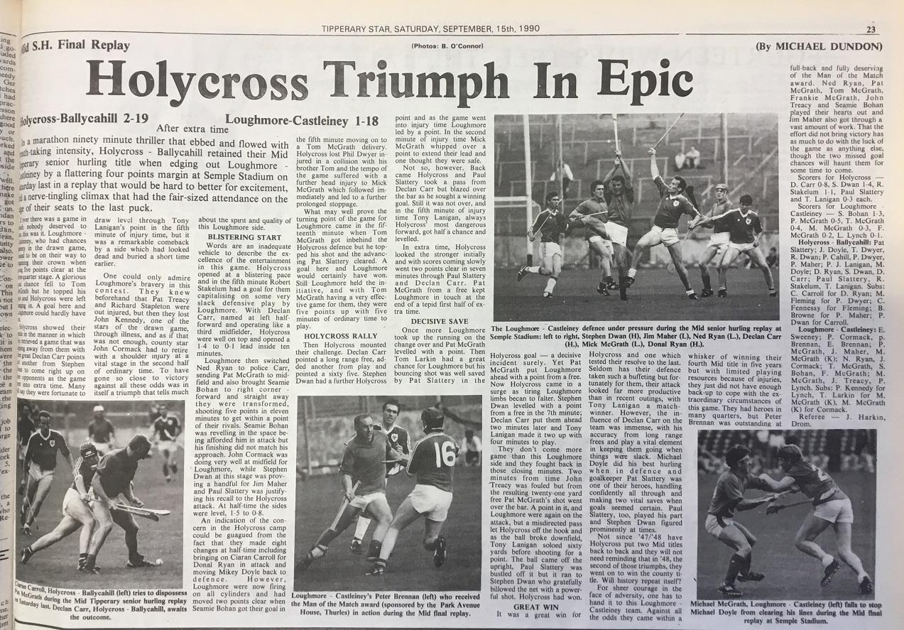 1990 Mid hurling final replay