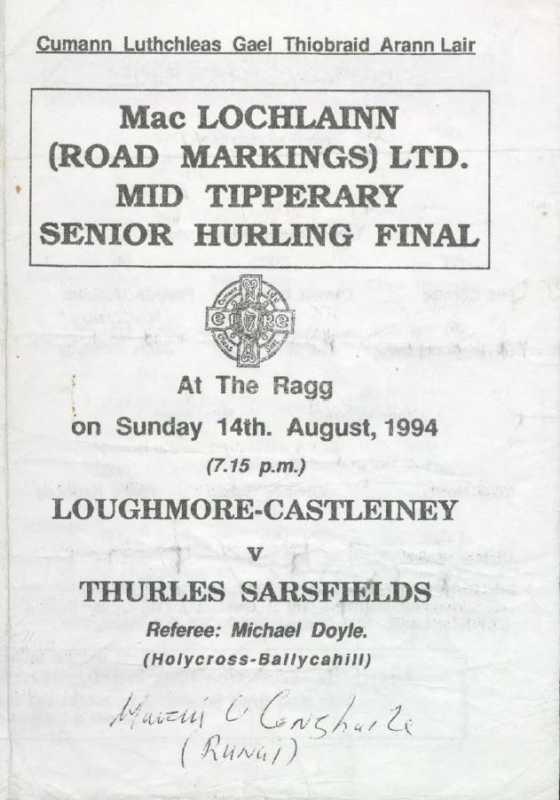 1994 Mid Tipperary Senior Hurling Final