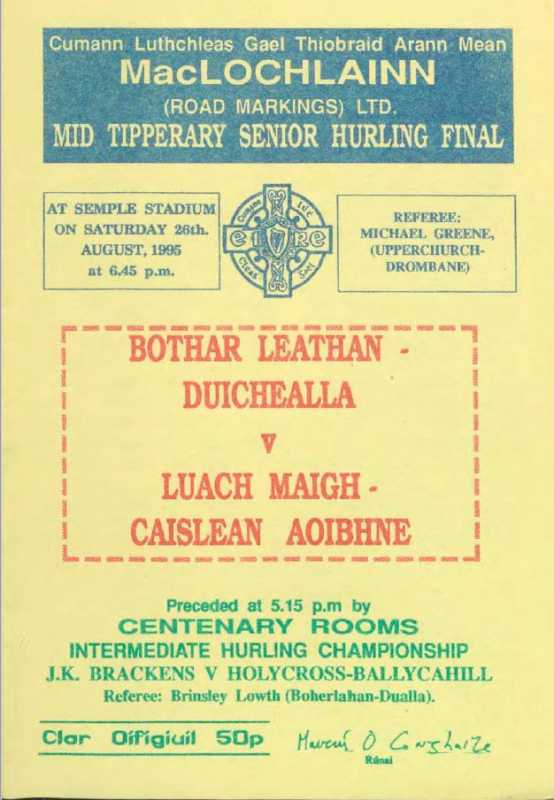 1995 Mid Tipperary Senior Hurling Final