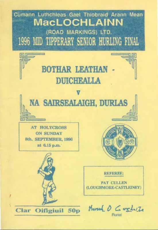 1996 Mid-Tipperary Senior Hurling Final