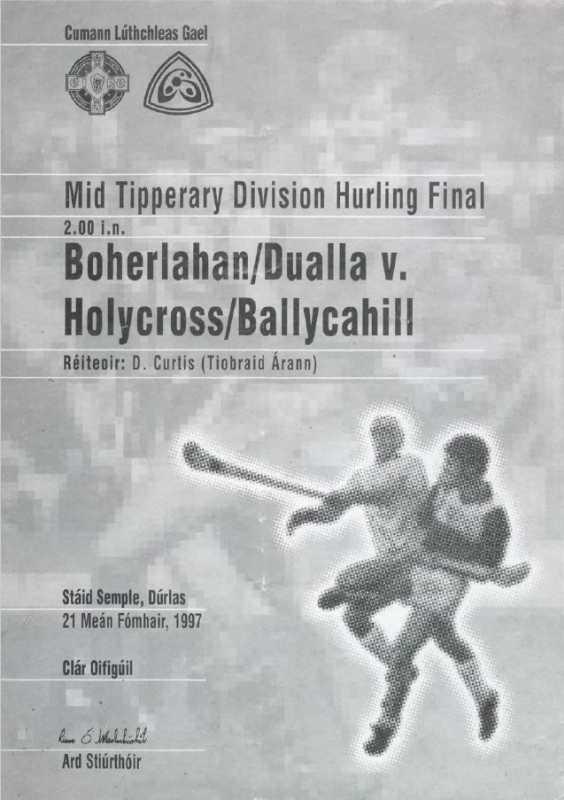 1997 Mid-Tipperary Senior Hurling Final