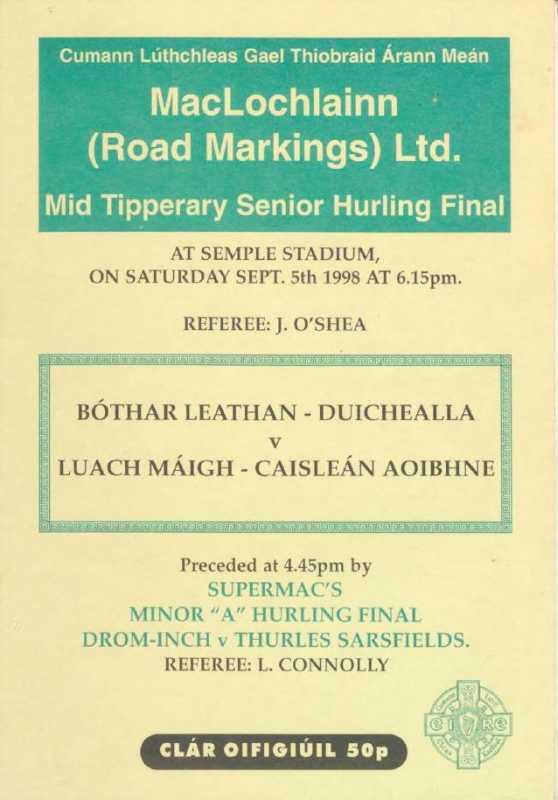 1998 Mid Tipperary Senior Hurling Final