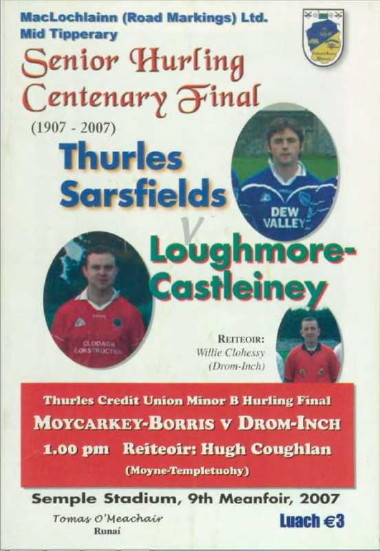 2007 Mid Tipperary Senior Hurling Final