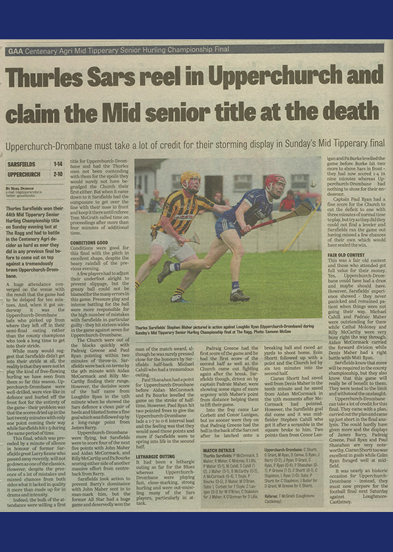 2017 Mid Hurling Final CoverB