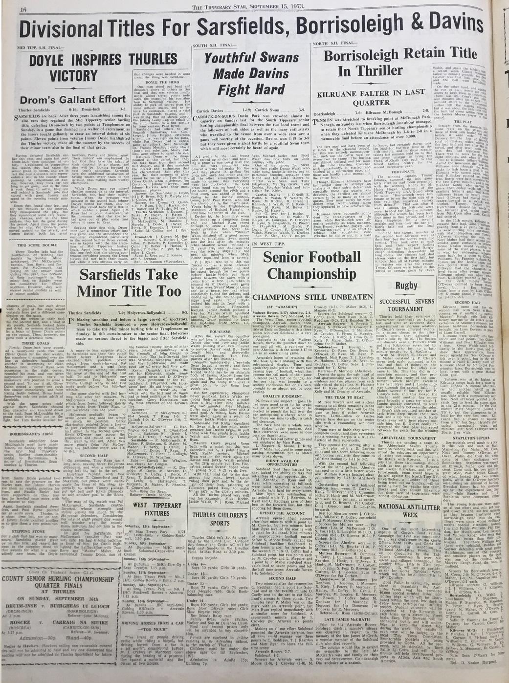 1973 North hurling final