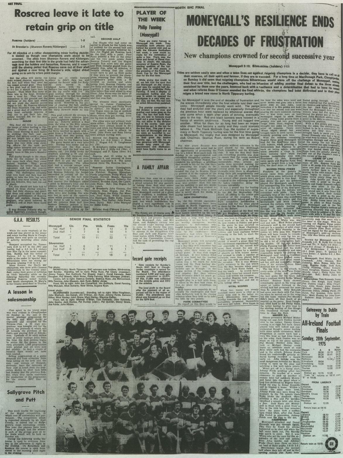 1975 North hurling final