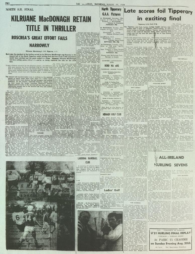 1978 North hurling final
