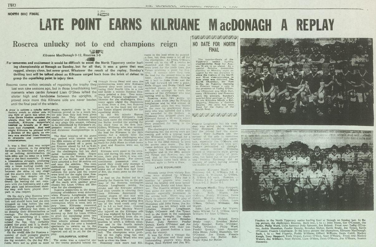 1980 North hurling final