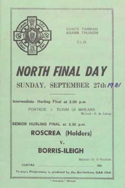 1981 North Tipperary Senior Hurling Final