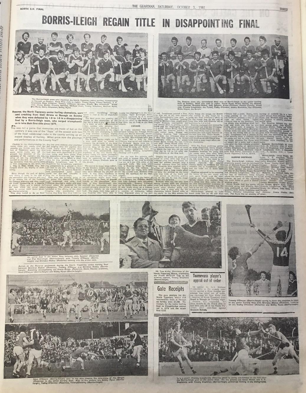 1981 North hurling final