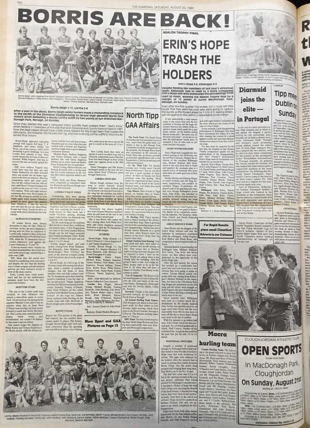 1983 North Hurling final