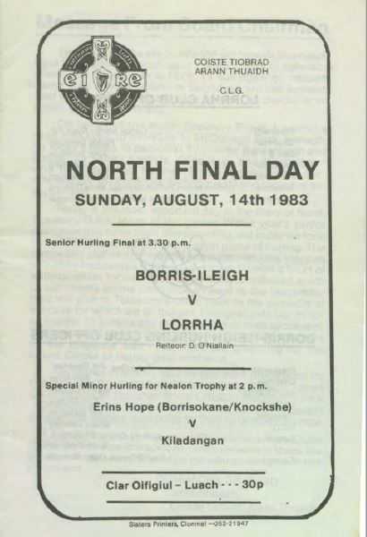 1983 North Tipperary Senior Hurling Final