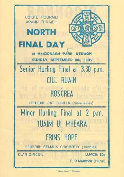 1985 North Tipperary Senior Hurling Final