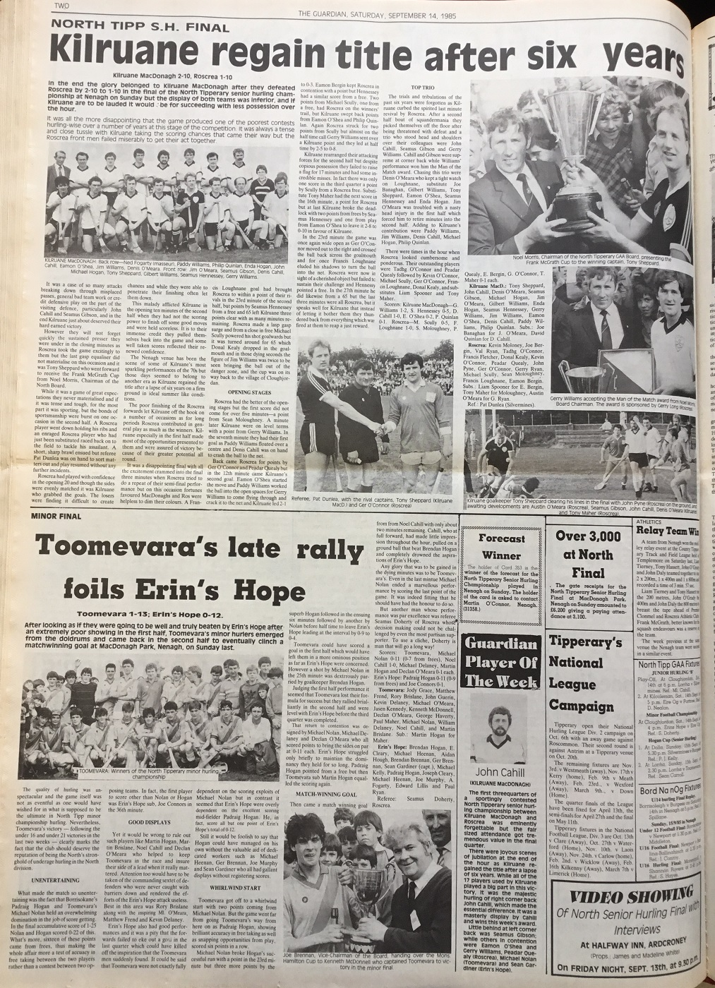1985 North hurling final