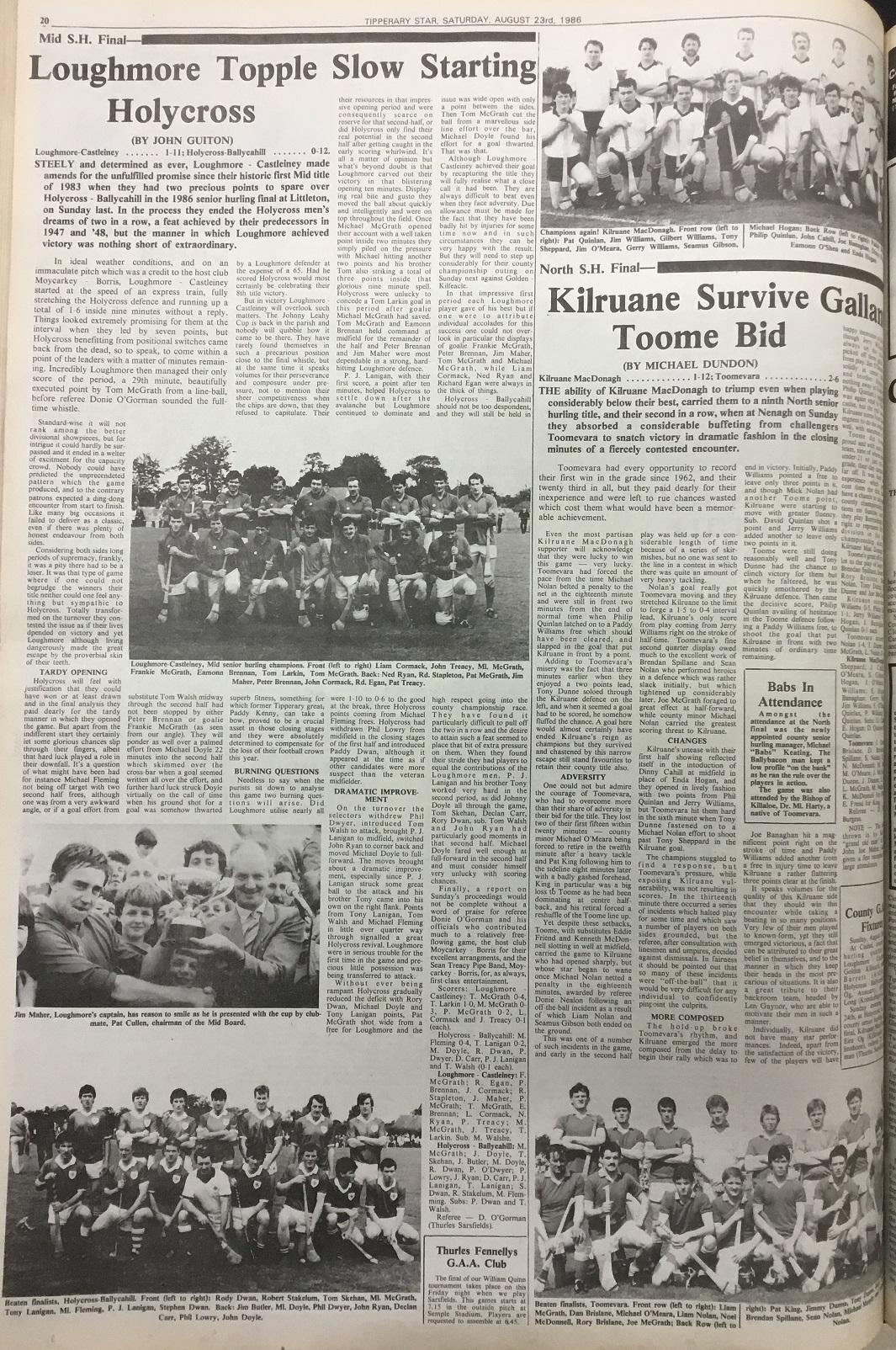 1986 Mid hurling final