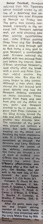 1987 North football final