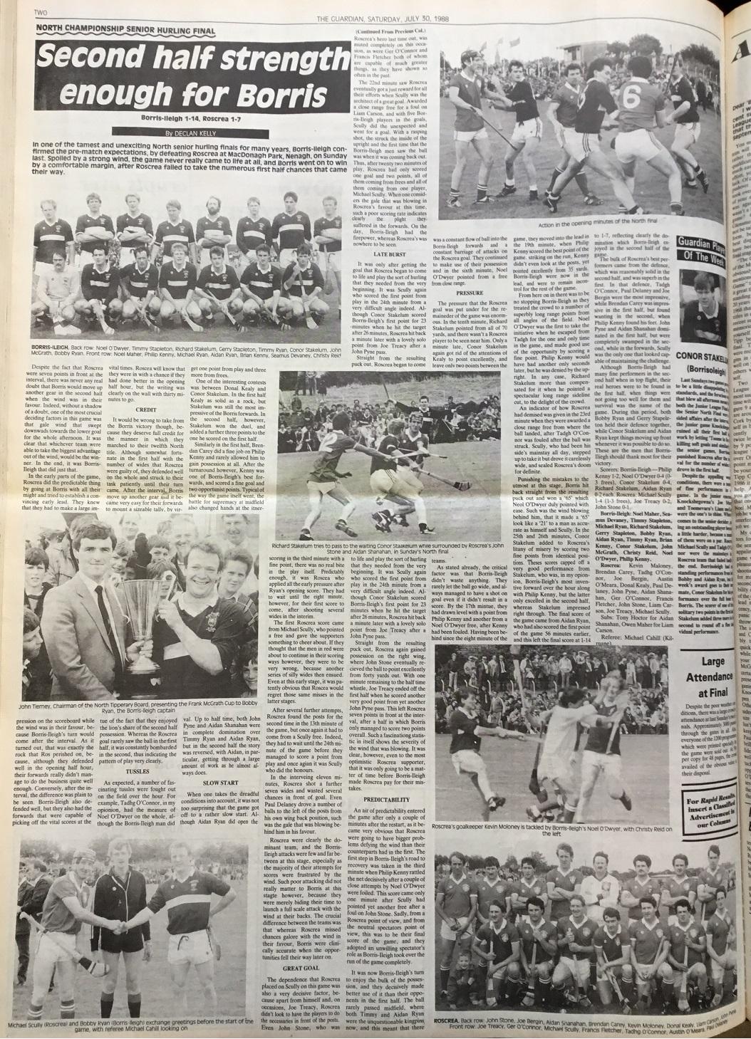1988 North hurling final