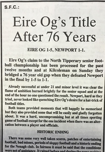1989 North Football Final Cover