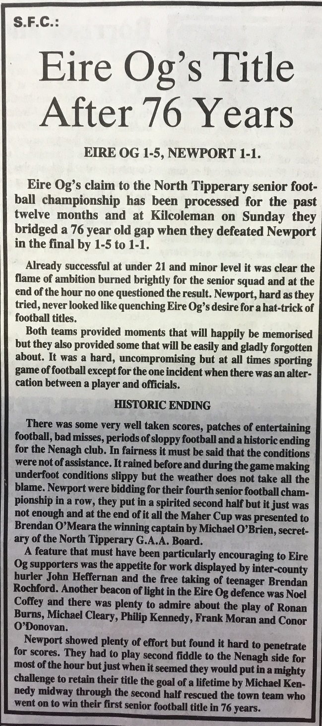 1989 North football final
