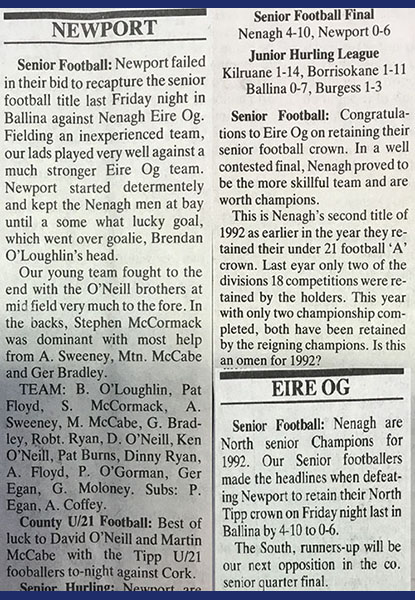 1992 North Football Final Cover