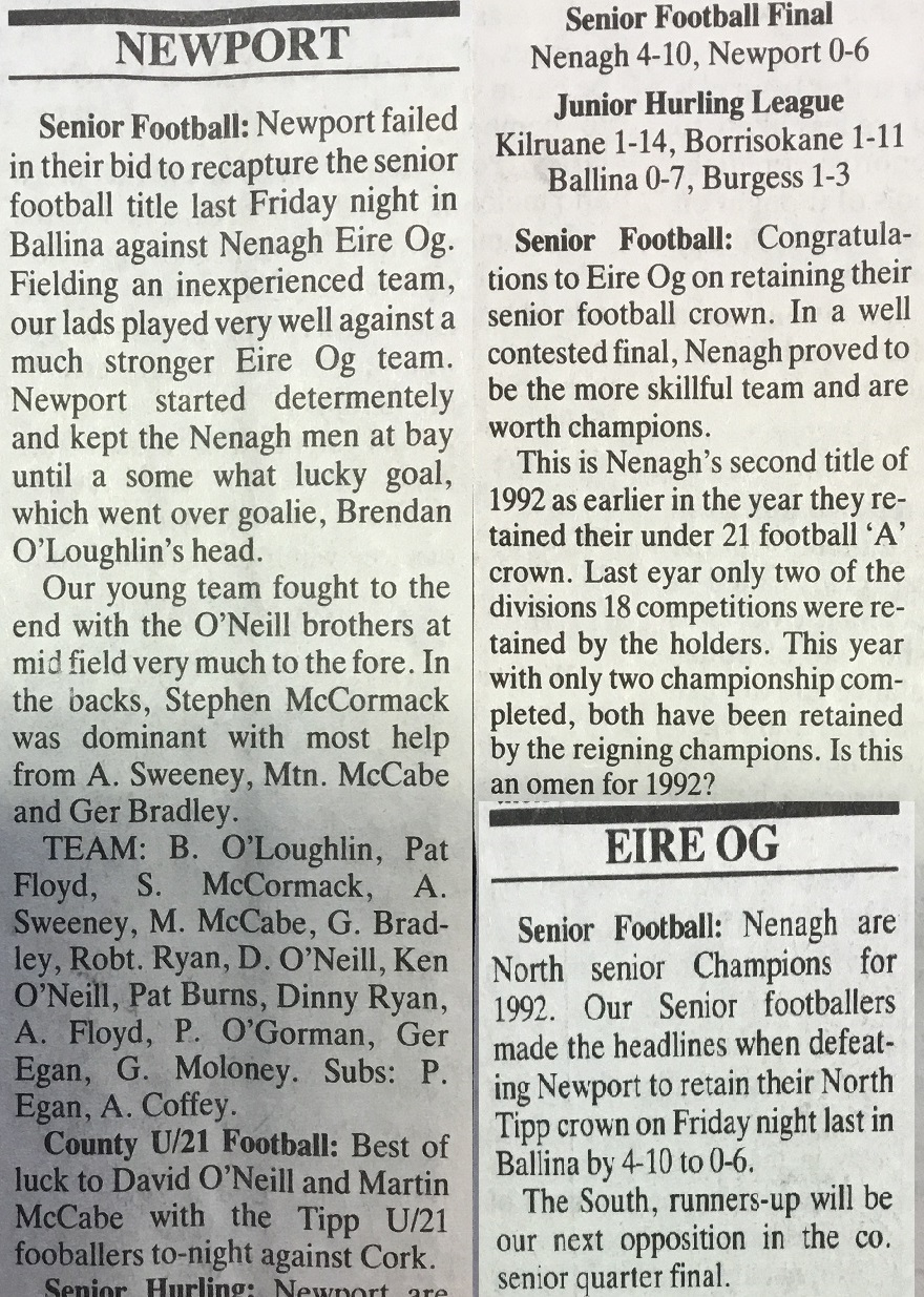 1992 North football final