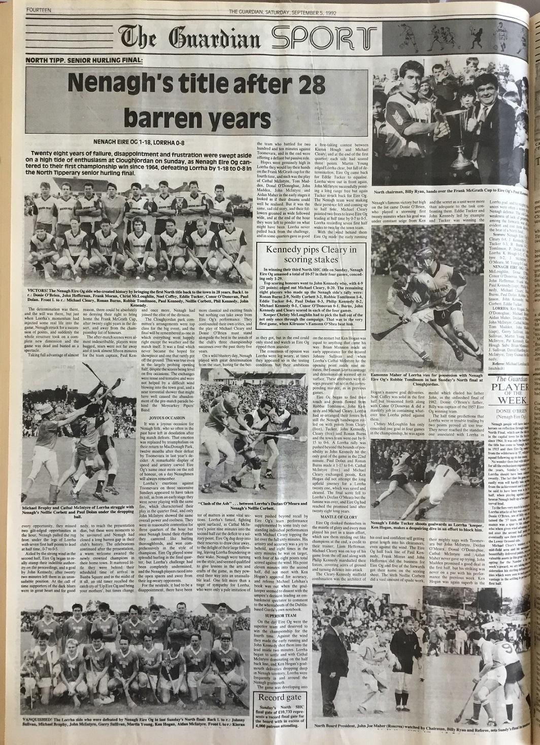 1992 North hurling final