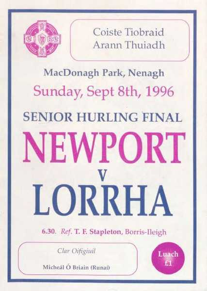 1996 North Tipperary Senior Hurling Final
