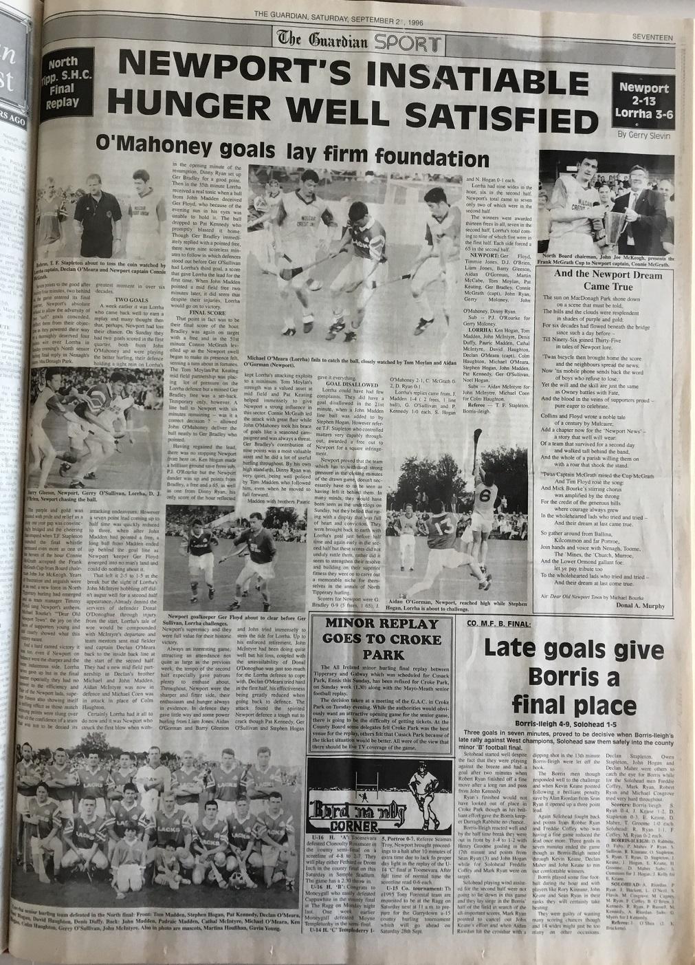 1996 North hurling final replay