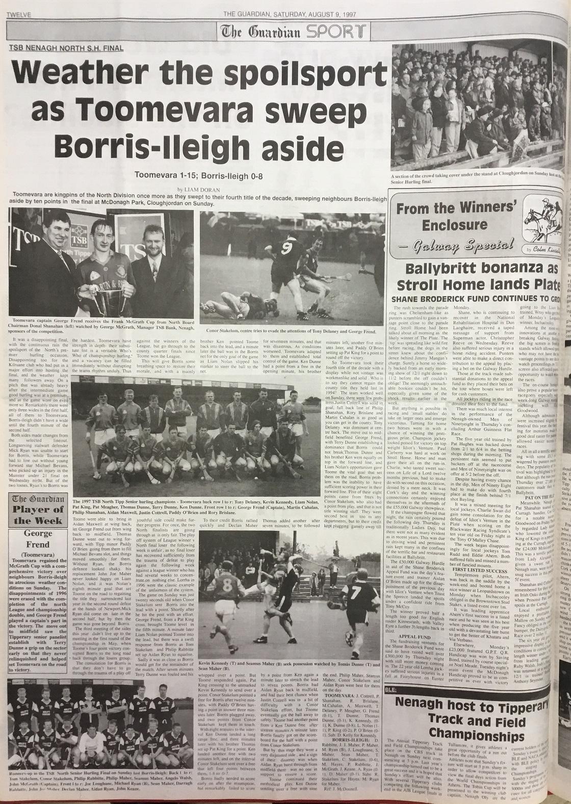 1997 North hurling final