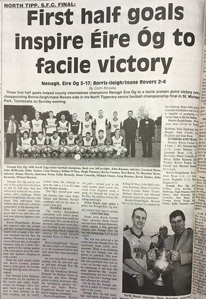 1998 North Football Final Cover