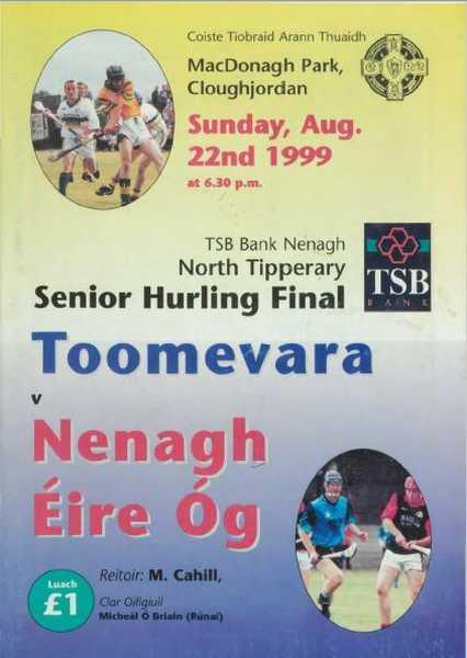 1999 North Tipperary Senior Hurling Final