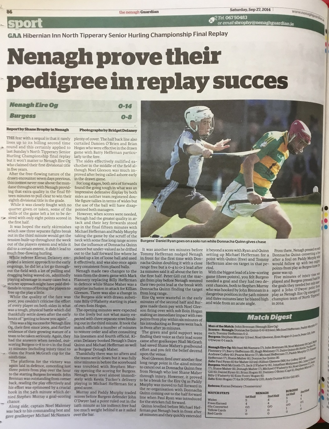 2014 North hurling final replay a