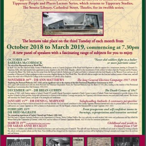 January Tipperary People And Places Lecture