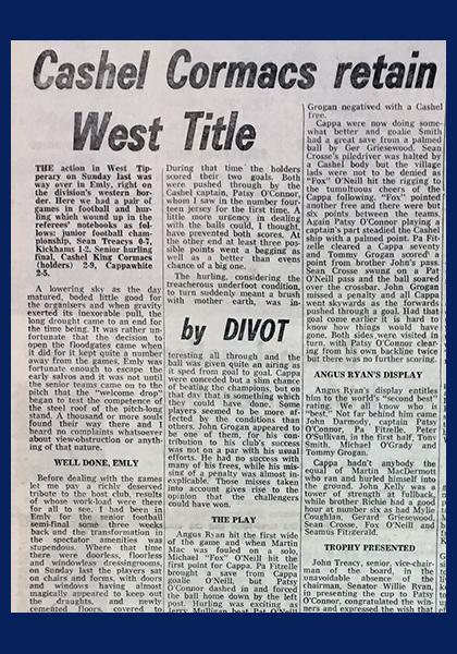 1976 West Hurling Final C