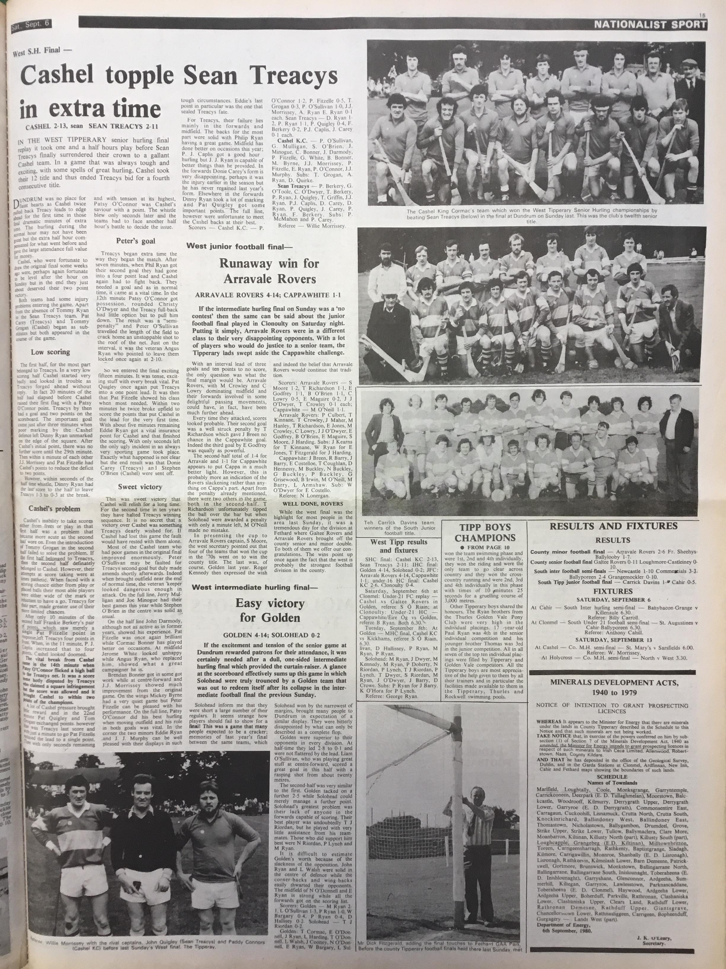 1980 West hurling final replay