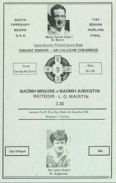 1982 South Tipperary Senior Hurling Final